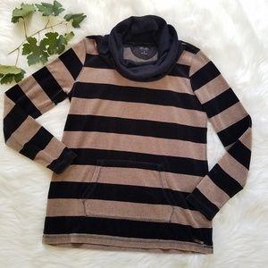 Calvin Klein Performance Striped Velour Sweatshirt